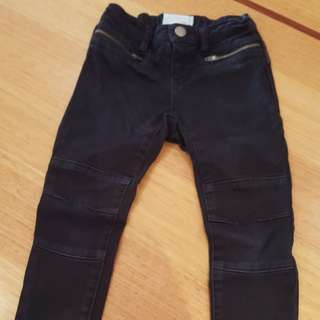 Country Road Girls Black Skinny Jeans, Size 4