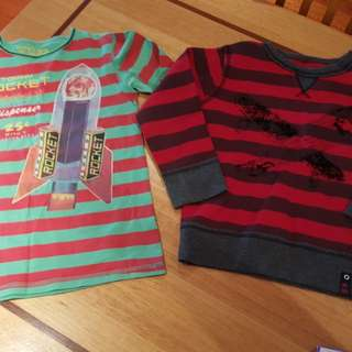 Tommy Rocket Boys Long Sleeve Tops x 2, Size 7