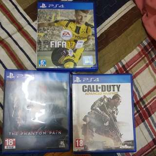 PS4: Fifa 17 | MGS V | COD Advanced Warfare