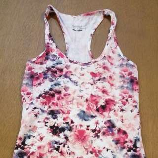 Bershka Floral Active Top (Size M)