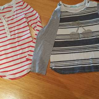 Country Road Girls Long Sleeve Tops x 2, Size 4