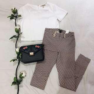 [SALE!!] H&M Printed Pants (Red)