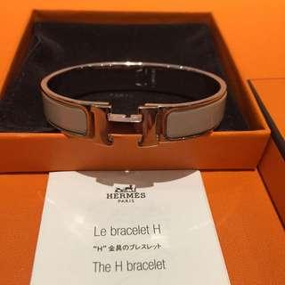 Hermes H Bracelet Light Grey 靚色