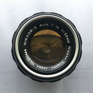 Nikon 50mm f/1.4  NIKKOR-S Auto-S