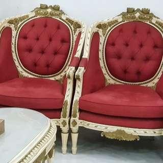 Baroque sofa set