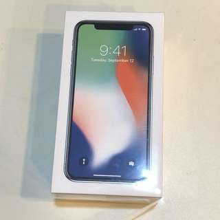 iPhone X- 256g silver