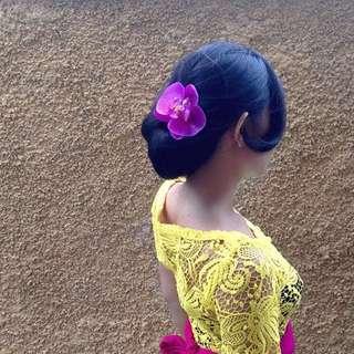 Hiasan rambut Jepit Anggrek Ungu