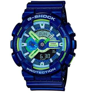 Casio G Shock * GA110MC-2A Anadigi Multi Color Dial Blue Gshock
