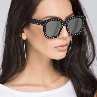 Reflective Studded Sunglasses