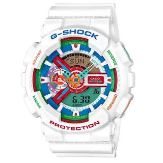 Casio G Shock * GA110MC-7A Anadigi Multi Color Dial White Gshock