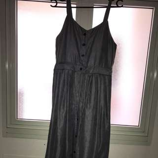 Velvet grey Long dress