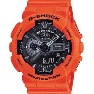 Casio G Shock * GA110MR-4A Anadigi Gshock Watch XL Orange & Black