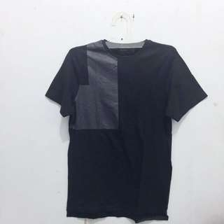 PULL&BEAR Tee Patch Leather