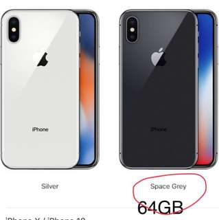 IPhone X 64GB Grey BNIB ( Starhub set)