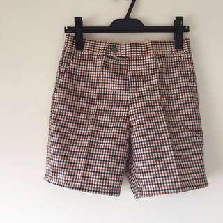 日本帶回 台灣製古早外銷日本 毛料混紡古董短褲