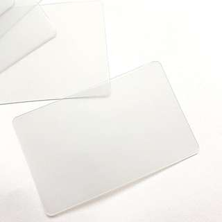 plastic cards for washi samples