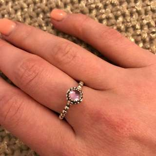 Authentic Pandora ring - Amethyst & Sterling silver