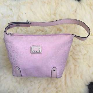 Genuine Guess Petite Pink Bag with Leather Trimmings