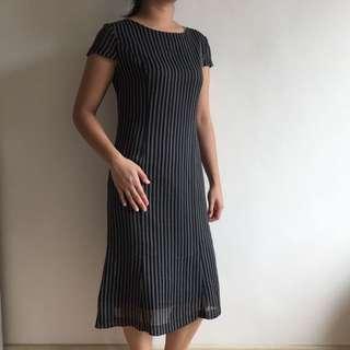 Korean Midi Vintage Dress