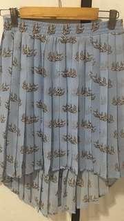 Blue Skylarkbird High-low Skirt