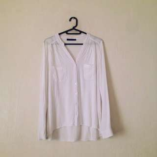 ATMOSPHERE White Button-Up Long Sleeve Top
