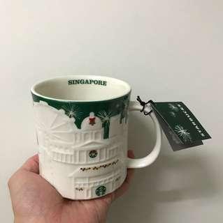 Starbucks Green Relief Christmas Mug [RARE]