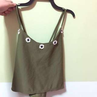 [brand new] Army green tank top