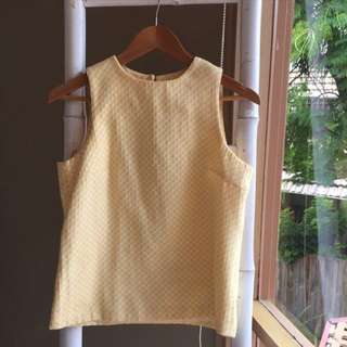 Zara Yellow Gingham Top