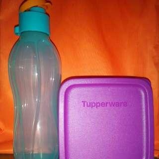Tupperware ECO bottle 500ml + small lunch box