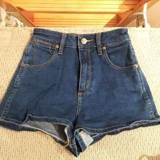 WRANGLER Denim Shorts High Waisted Cheeky Size 6