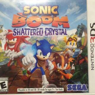 SONIC BOOM SHATTERED CRYSTAL Nintendo 3DS