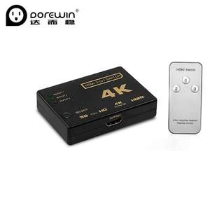 Dorewin HDMI Switch 3 input 1 output Switcher HD 1080P HDMI Splitter HDMI Cable with Audio Radio for XBOX HDTV Smart BOX