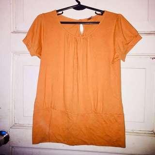 Orangey Comfy Blouse