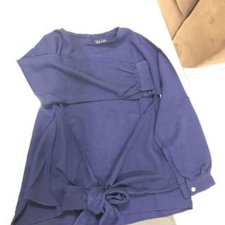 May collection atasan biru dongker size S fit to M