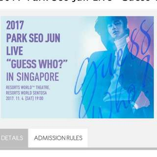 Park Seo Jun Singapore fan meet