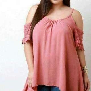 Plus size off shoulder blouse