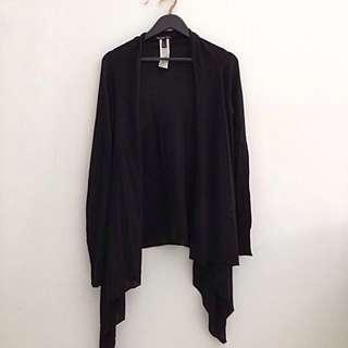 MANGO Metallic Detail Cardigan in Black - Size L