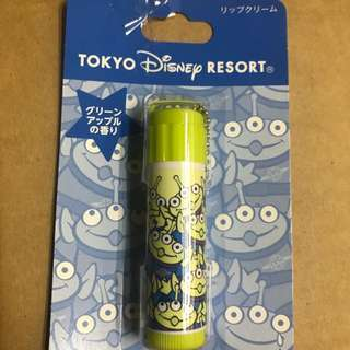 全新東京迪士尼樂園限定toys story little green man 三眼仔潤唇膏