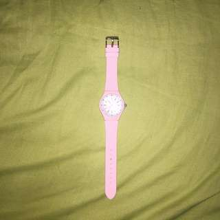 miniso jelly rubber pink watch