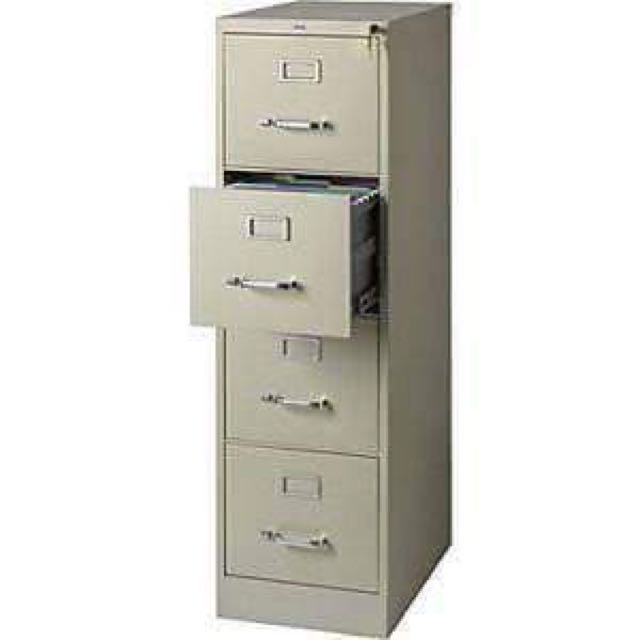 2pc 4 layer filing cabinet