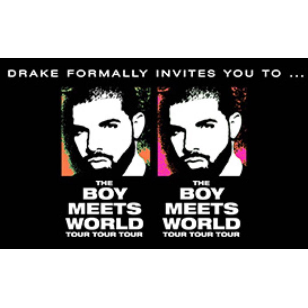 2x DRAKE Melbourne Concert Tickets (EMERALD SEAT)