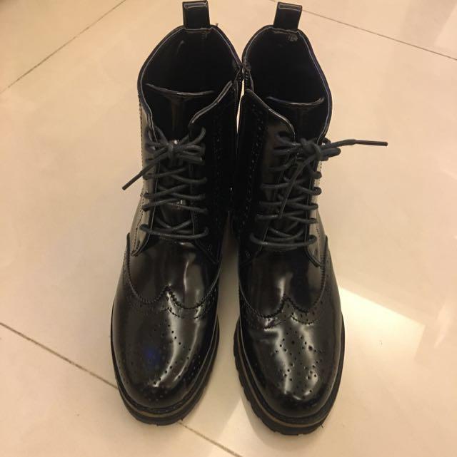韓製  英倫帥氣風軍靴
