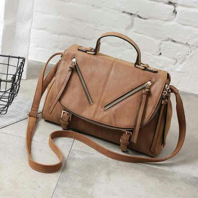 👜 Original Call It Spring Suede Brown Satchel Bag 👜