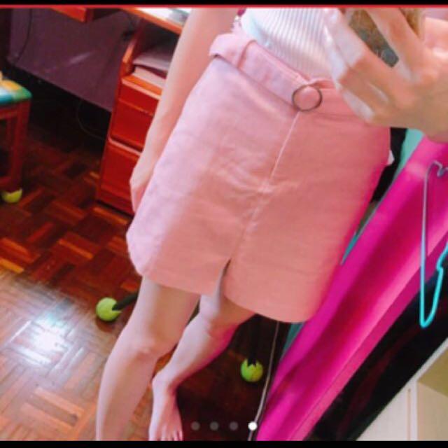 粉紅a字裙