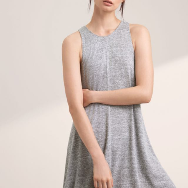Aritzia Wilfred Rosa dress heathered black size xxs (fits loose)