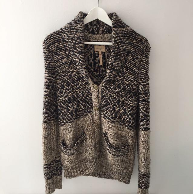 Aritzia Wilfred Wool Button Down Sweater XS
