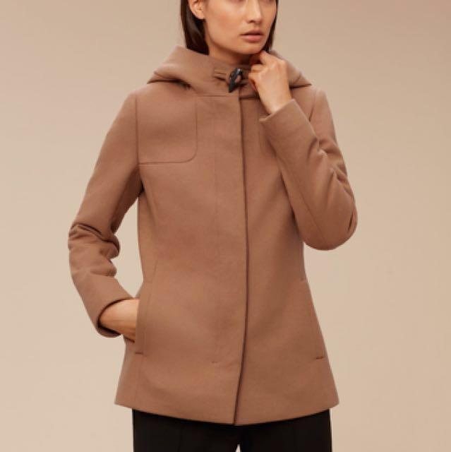 Aritzia wool coat - DARK GREY