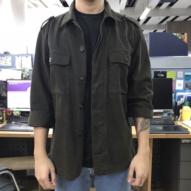 Army Green Jacket (M/L)