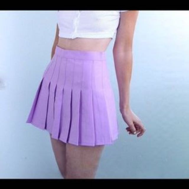 Authentic lilac AA tennis skirt