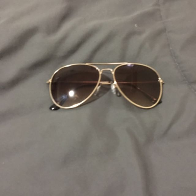 Aviator glasses... brown in colour